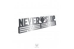 Never Stop Heart / Держатель для медалей @, Аксессуары для бега - в интернет магазине спортивных товаров Tri-sport!