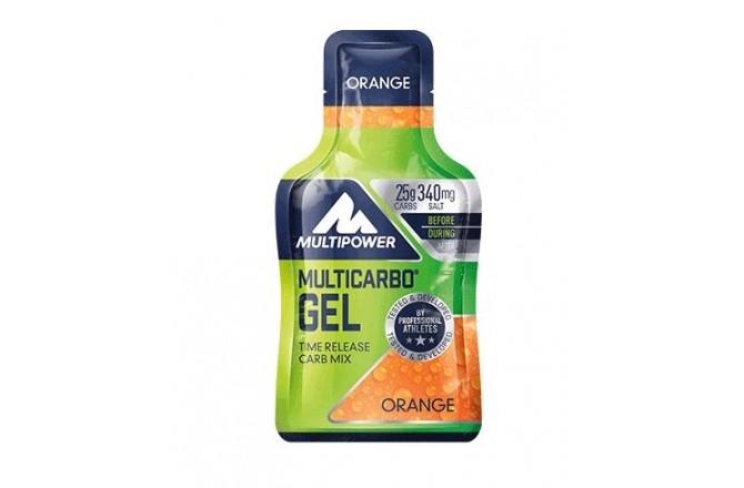 Multipower Multi Carbo Gel, Orange  / Энергетический гель 1 пакетик 40гр., Гели - в интернет магазине спортивных товаров Tri-sport!