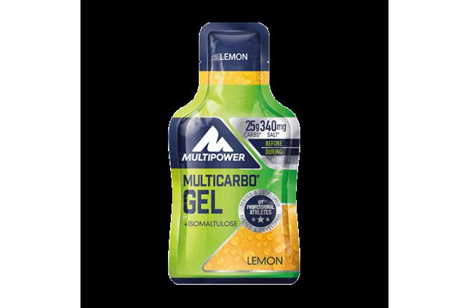 Multipower Multi Carbo Gel, Lemon  340 mg Electrolyte  / Энергетический гель 1 пакетик 40гр., Гели - в интернет магазине спортивных товаров Tri-sport!